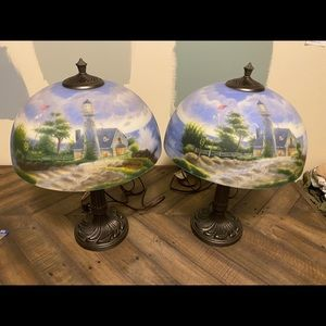 Thomas Kinkade Lamps - A Light in the Storm